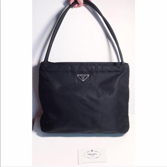 Prada Bags   Authentic Black Nylon Tote Shoulder Bag   Poshmark e1948f1f02